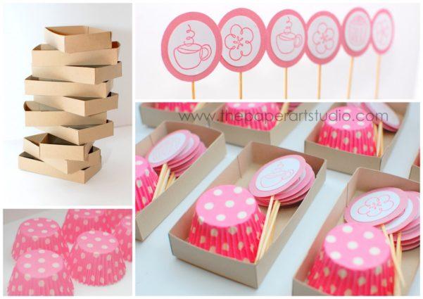 Produtos e acessórios para cupcake